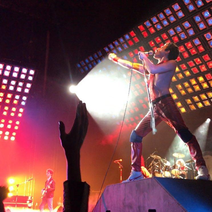 Ujęcie z planu filmowego Bohemian Rhapsody