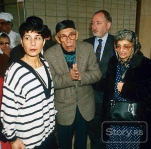 Siostra, rodzice i szwagier Freddiego - 27 listopada 1991 r.