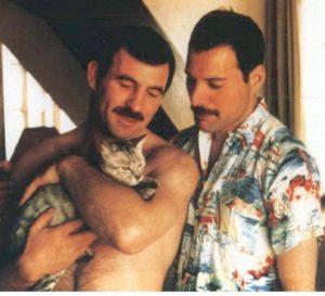 Freddie i Jim z Dorothy w Monachium w 1985 r.