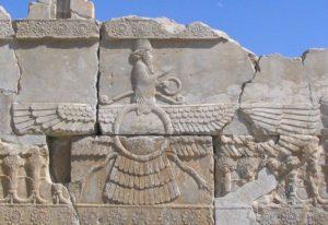 Przedstawienie Ahury Mazdy w Persepolis, fot.: Marco Prins, www.livius.org