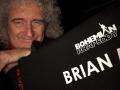 Brian May na planie filmu w  styczniu 2018 r.